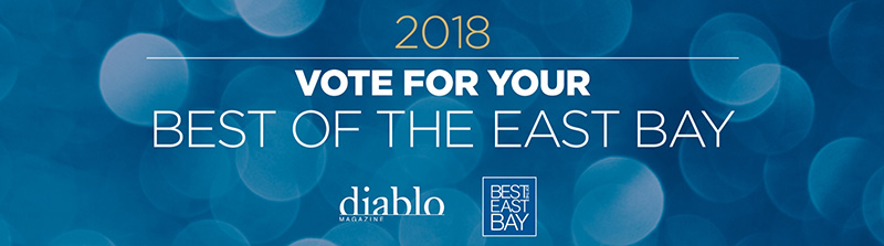 Vote for us for Diablo Magazine's Best of the East Bay 2018!