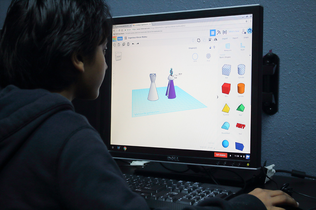 In digital art classes, students learn 3D modeling