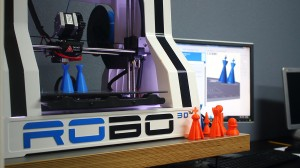 Our 3D printer turns student designs into plastic reality.