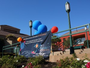 Balloons at our grand opening: Welcome to Panache!