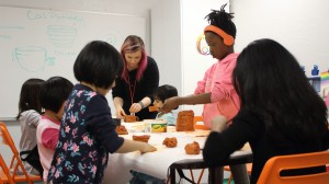 Our art and science lab lets our students get messy — as in this coil pottery lesson,