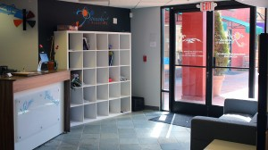 Students' cubbies in our lobby