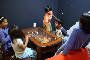 Our students enjoy the foosball table.