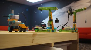 Our summer camp students built these LEGO Cranes.