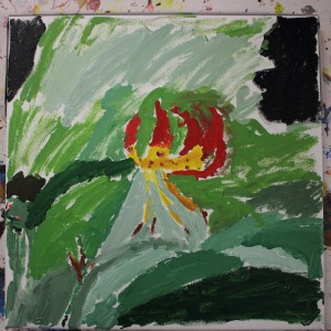 Our summer camp students photographed, sketched and painted many kinds of plants, including this tiger lily.