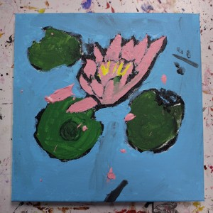 Our summer camp students photographed, sketched and painted many kinds of plants, including this water lily.