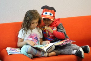 Quiet time for reading is an important part of every day.